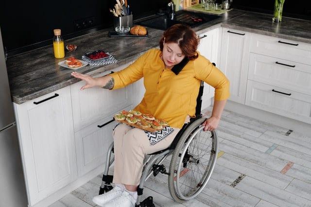 casa para personas en silla de ruedas