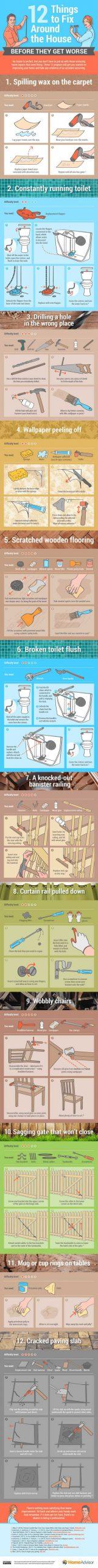 10 problemas en casa que puede reparar usted mismo infografia