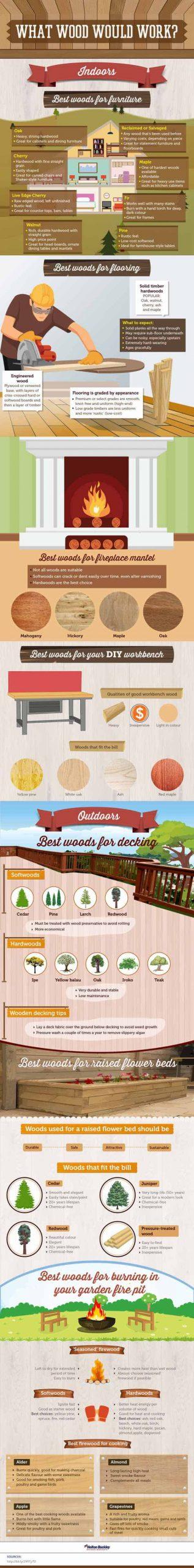 como escoger madera para reformas en casa infografia