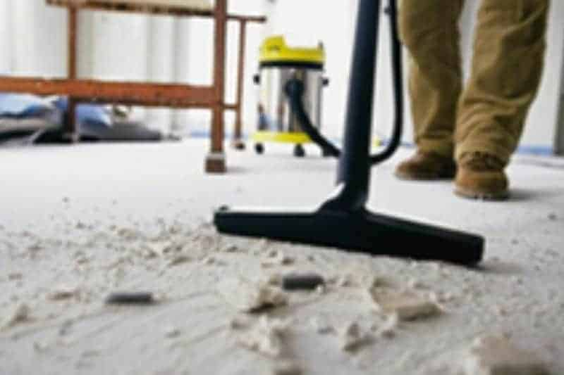 pasos para limpiar después de una reforma