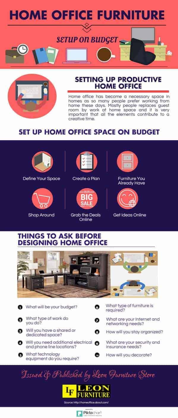 organizar su oficina en casa infografia