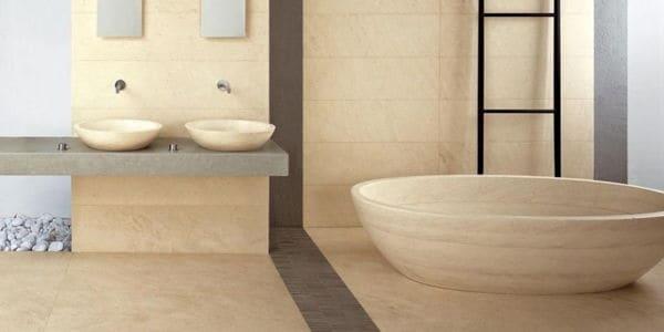 Baños con piedras naturales