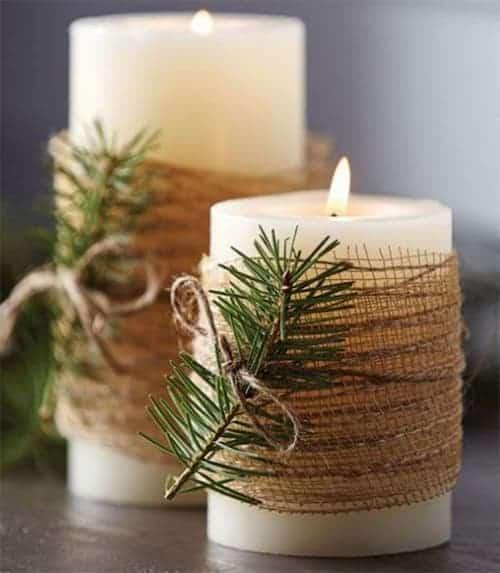 velas para decoraciones navideñas
