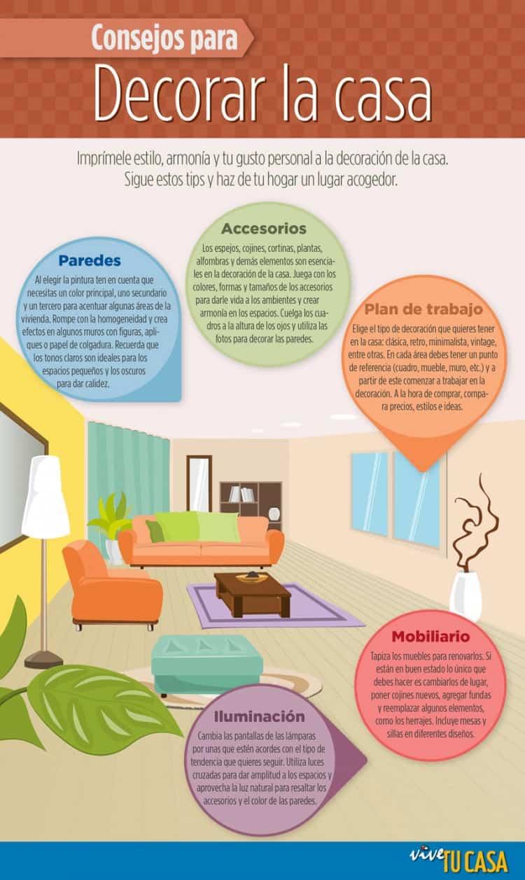 Consejos para amueblar la casa #infografia
